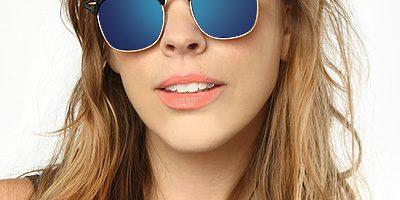 خرید عینک ری بن کلاپ مستر شیشه آبی