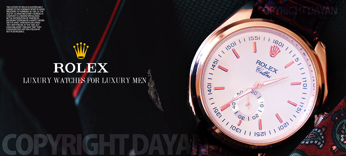 ساعت مچی مردانه طرح2016 Rolex زیر ثانیه