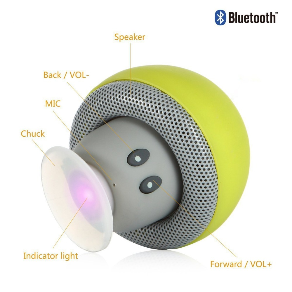 Portable-Bluetooth-Speaker-Wireless-Handsfree-Mushroom-Speaker-With-Sucking-Disc-Bracket-for-iphone-6-5-4