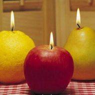 شمع های میوه ای ۴عددی