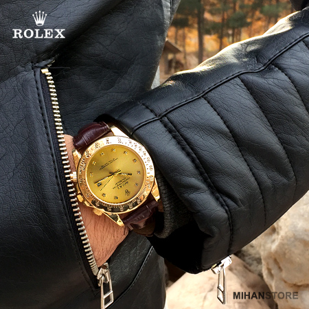 ساعت بند چرم Rolex مدل Winner