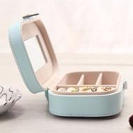 جعبه جواهرات و لوازم آرایش چرمی