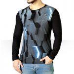 تی شرت آستین بلند سه بعدی Hex