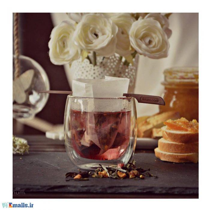 فنجان دوجداره شیشه ای