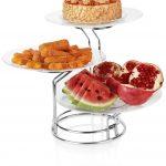 خرید ارزان دیس پایه دار میوه و شیرینی سه تایی