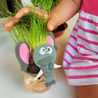 سبزه ی عروسکی طرح فیل