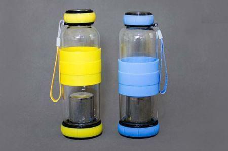فلاسک شیشه ای دم نوش سیلیکونی