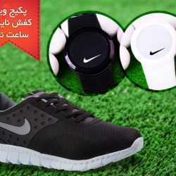 پکیج کفش مردانه Nike Air و ساعت ال ای دی Nike Snow