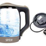خرید کتری برقی شیشه ای کف استیل ضد زنگ Sinba مدل SHB - 993