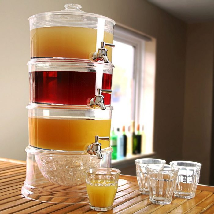 خرید ارزان کلمن آب شیشه ای سه طبقه