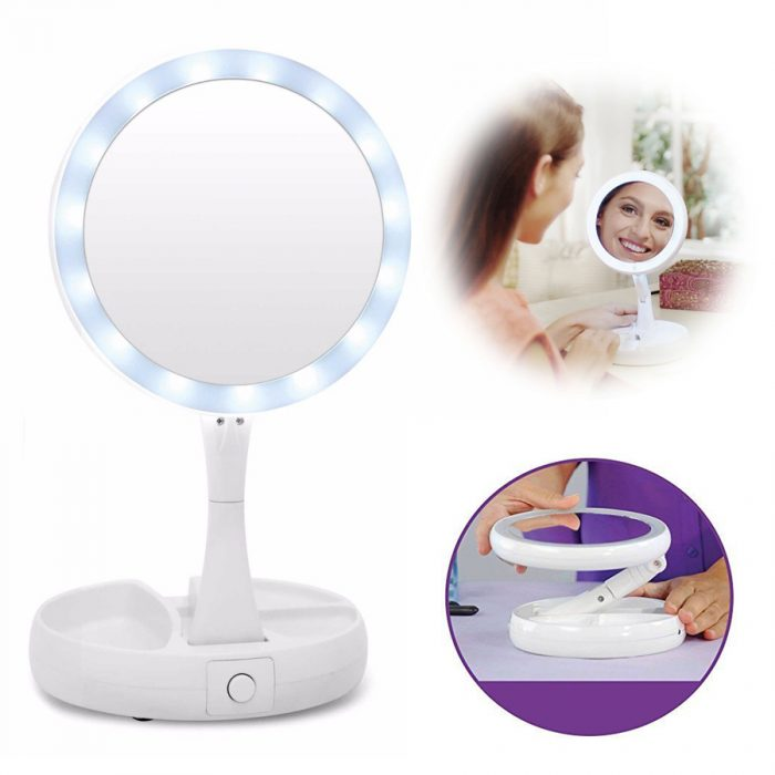 آینه آرایشی تاشو چراغ دار (۳)
