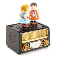 خرید جعبه جواهرات موزیکال بوسه ای طرح رادیو