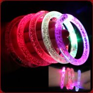 خرید دستبند چراغدار حبابدار شفاف LED
