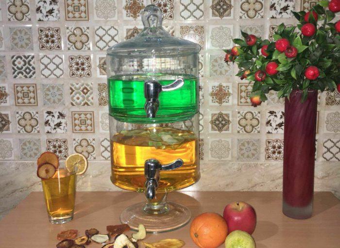 کلمن آب دو طبقه شیشه ای