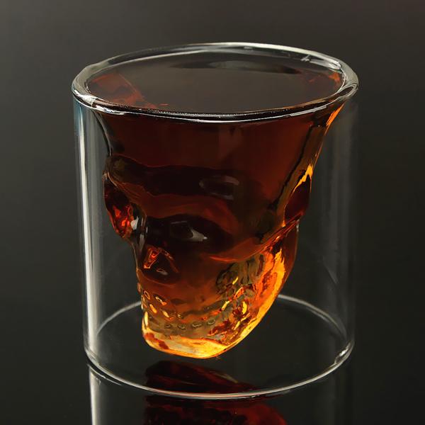 خرید لیوان شیشه ای دوجداره اسکلت