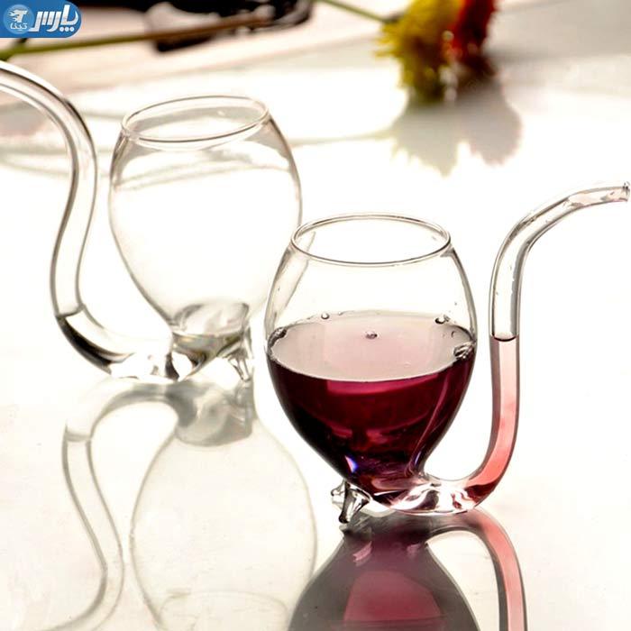 لیوان شربت خوری نی دار,لیوان اسموتی نی دار,لیوان شیشه ای نی دار,لیوان نی دار