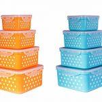 خرید ظرف نگهدارنده ماکروویو ۴ عددی طرح خالدار