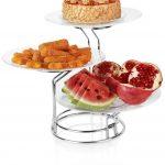 خرید دیس پایه دار میوه و شیرینی سه تایی