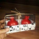 خرید شمع ۴ تایی شب یلدا طرح انار
