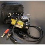 پمپ باد یا کمپرسور فندکی خودرو مدل تک سیلندر فلزی